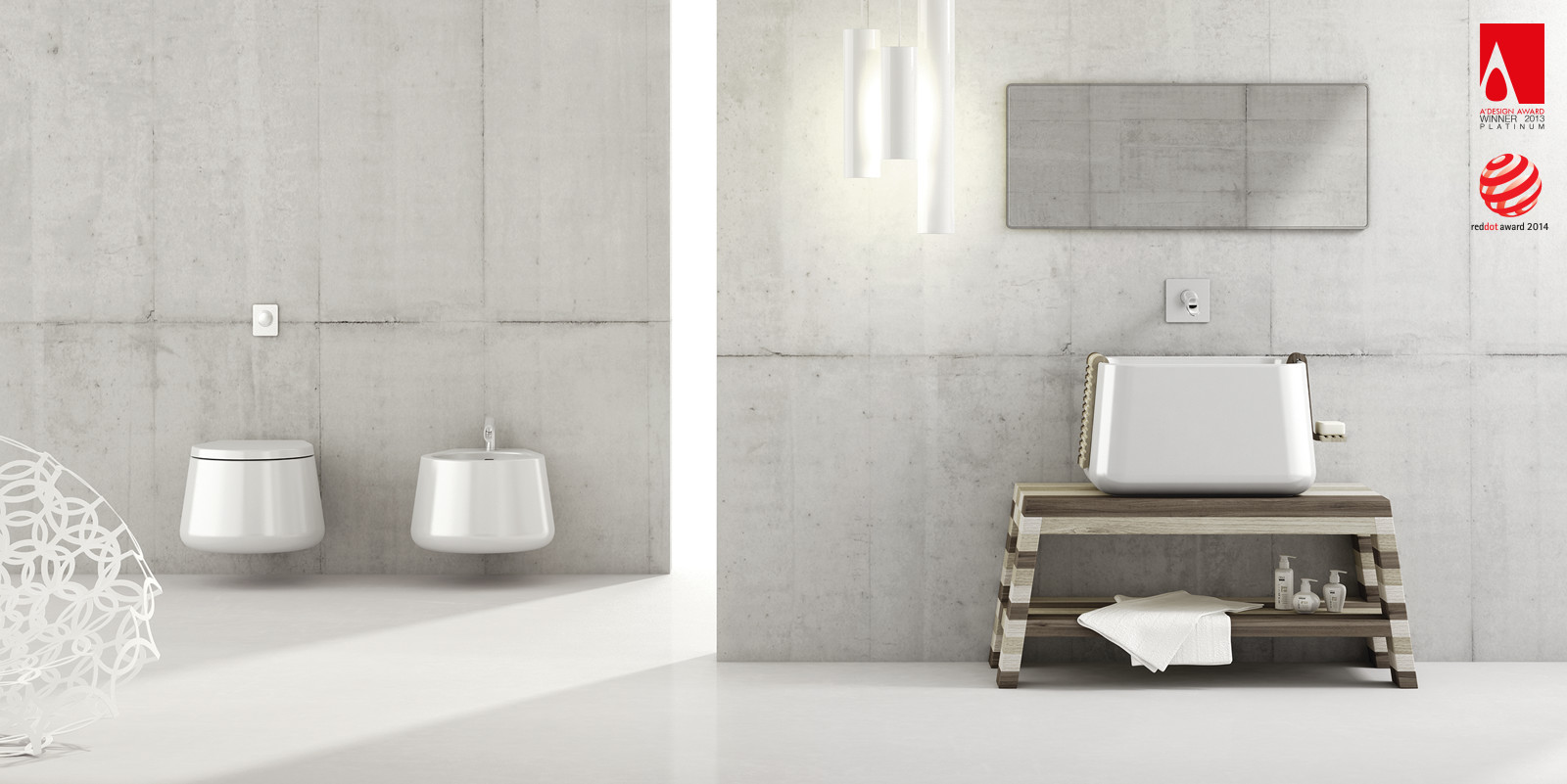 Catino bathroom collection by Emanuele Pangrazi