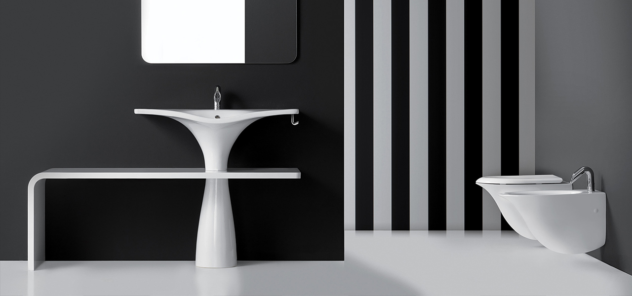 Libera bathroom collection designed by Emanuele Pangrazi